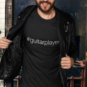 Hashtag Guitar Player #guitarplayer Unisex T-shirt - black