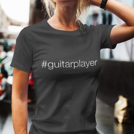 Hashtag Guitar Player #guitarplayer Unisex T-shirt - dark grey