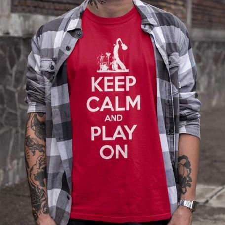 Keep Calm And Play On Guitar Shirt