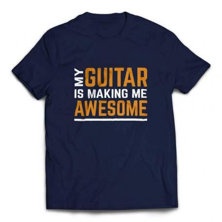 My Guitar Is Making Me Awesome T-shirt – Navy