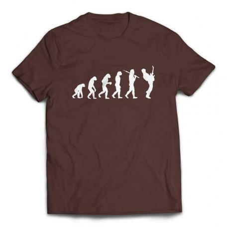 Evolution of a Guitarist Guitar Player T Shirt - Brown