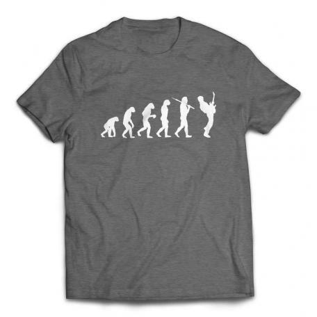 Evolution of a Guitarist Guitar Player T Shirt - Deep Heather