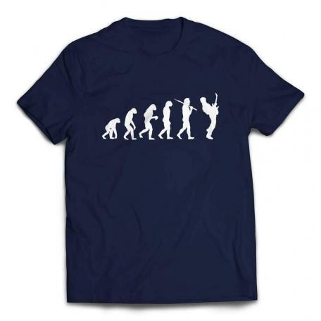 Evolution of a Guitarist Guitar Player T Shirt - Navy