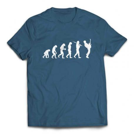 Evolution of a Guitarist Guitar Player T Shirt - Steel Blue