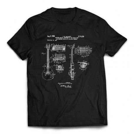 Gibson Les Paul Patent Guitar T-shirt - Black