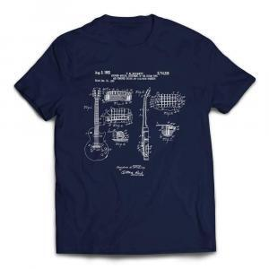 Gibson Les Paul Patent Guitar T-shirt - Navy
