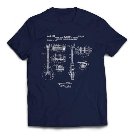 Gibson Les Paul Patent Guitar T-shirt - Navy