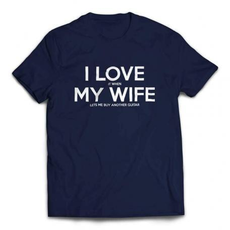 I Love It When My Wife Lets Me Buy Another Guitar T-shirt - Navy