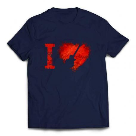 I Love Les Pauls Guitar T-shirt - Navy