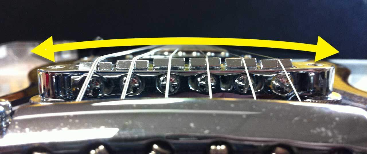 How To Setup A Guitar - Les Paul Saddle Radius