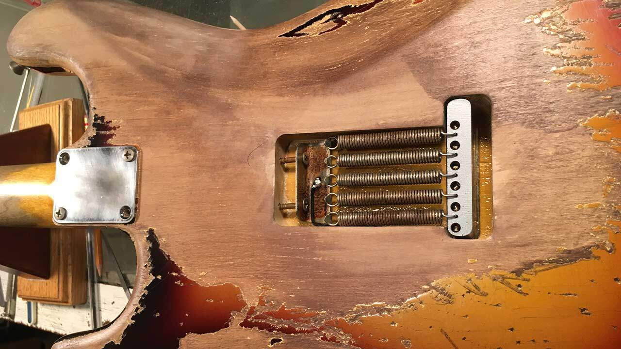 Custom SRV Tremelo Spring Cavity