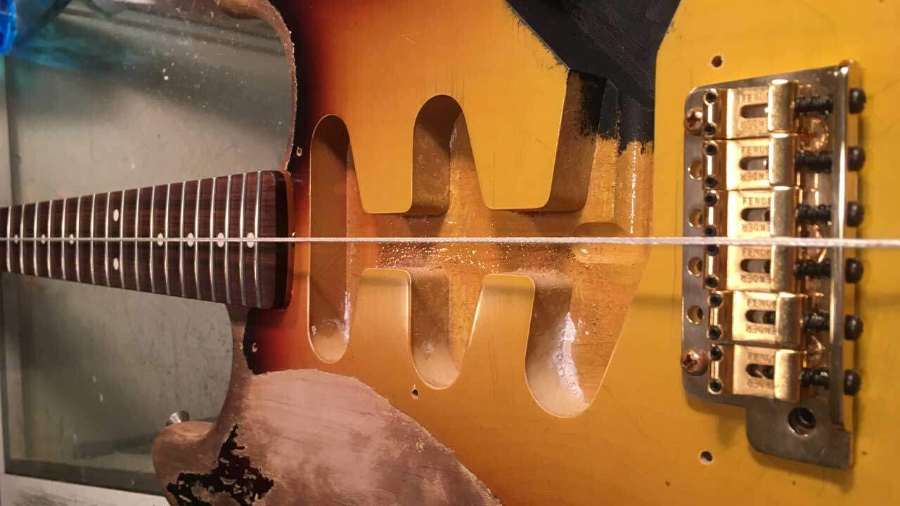 SRV Custom Build Aligning the Neck