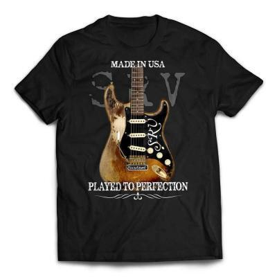 Stevie Ray Vaughan Number One Strat Played to Perfection T-shirt black