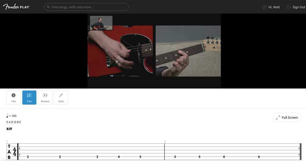 Fender Play Overview of Features