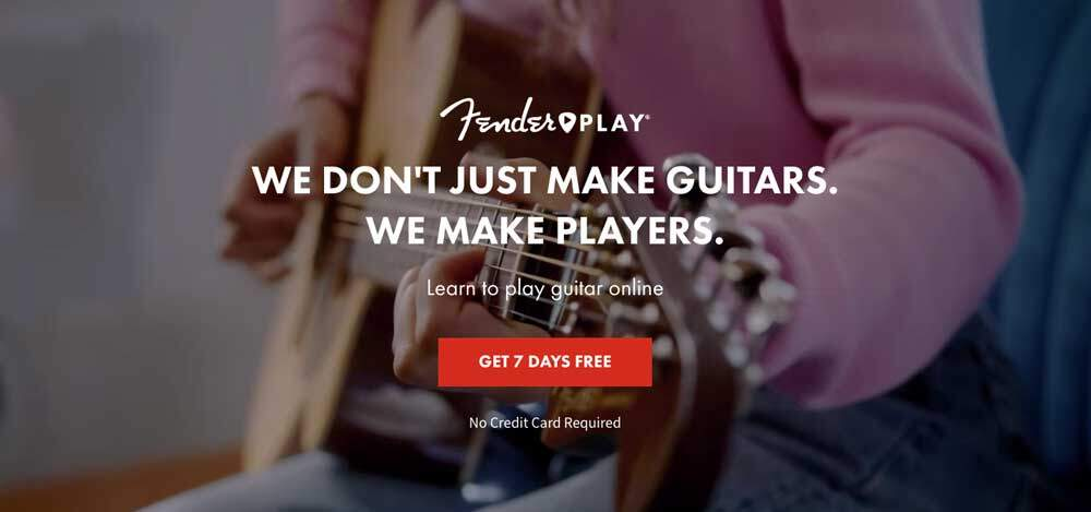 Fender Play Review - Homepage