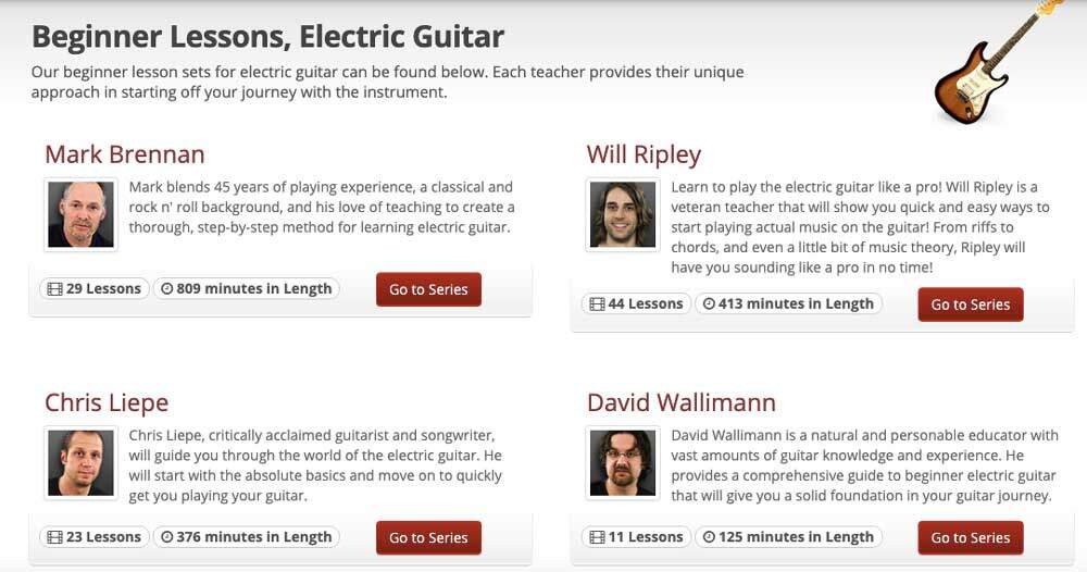 JamPlay Lesson Page