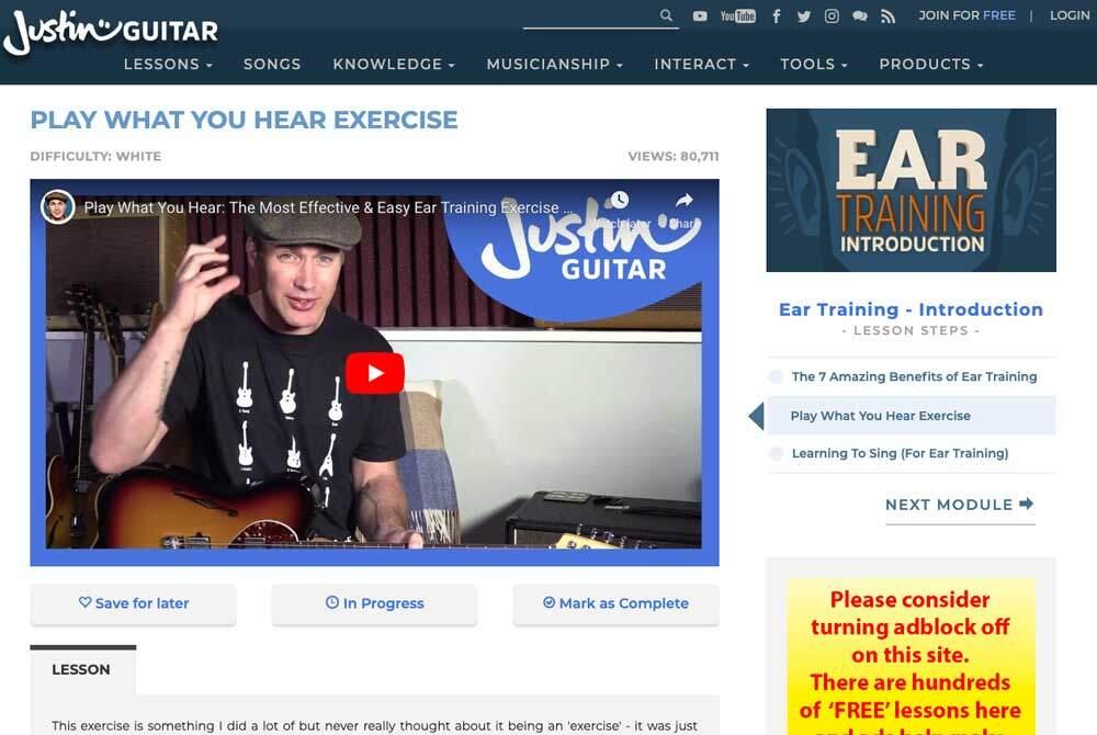 Justin Guitar-JG-Ear-Training