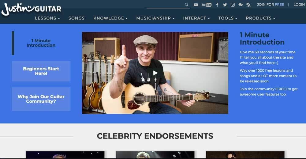 Justin Guitar-JG-Homepage