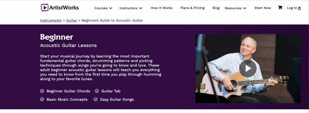 ArtistWorks Review - Adult Beginner guitar Lessons