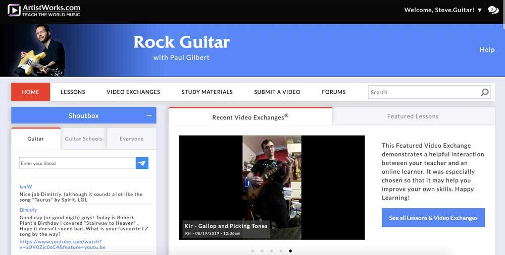 ArtistWorks Review - Rock Lessons