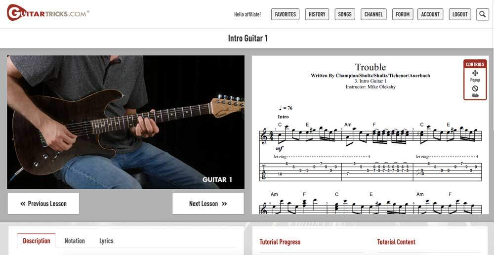 Guitar Tricks Review - Features