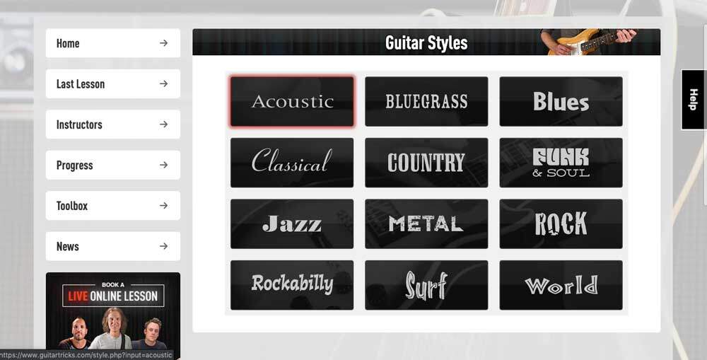 Guitar Tricks Review - What's Included