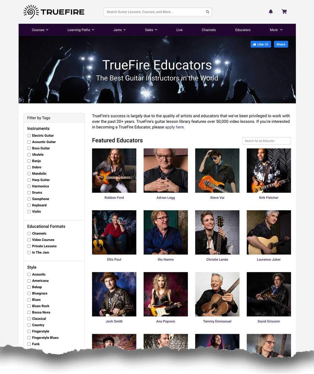 TrueFire Lessons Review - Educators