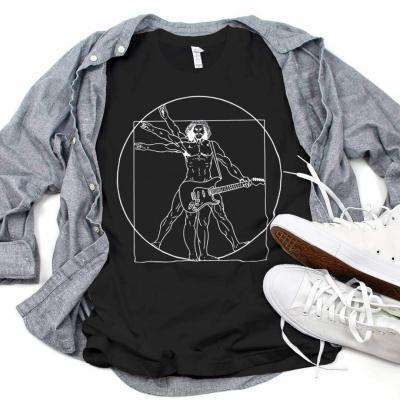 Vitruvian Man guitar T-shirt