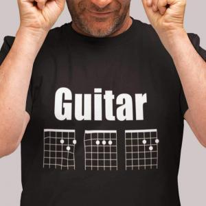 Guitar DAD Chord Unisex T-Shirt - black