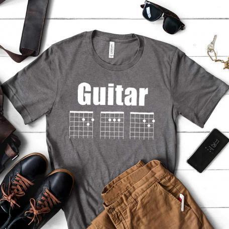 Guitar DAD Chord Unisex T-Shirt - dark heather