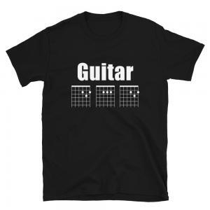 Guitar DAD Chord Unisex T-Shirt-black