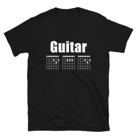 Guitar DAD Chord Unisex T-Shirt-black