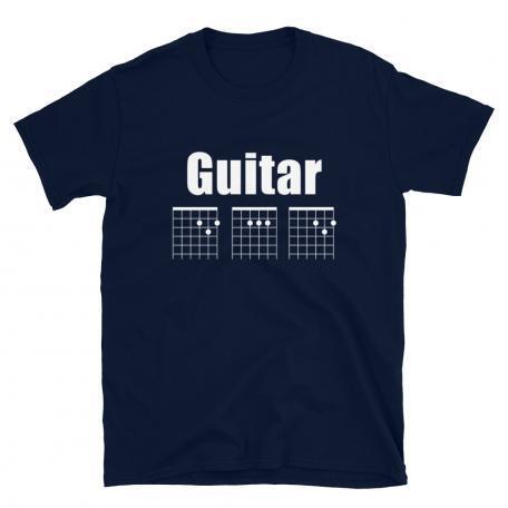 Guitar DAD Chord Unisex T-Shirt-navy