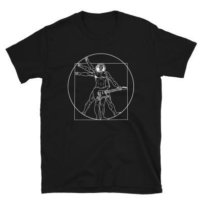 Vitruvian Man guitar T-shirt-black