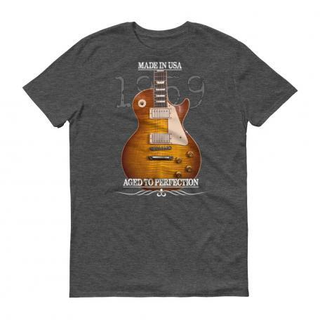 Aged To Perfection 1959 Gibson Les Paul Burst T-Shirt heather dark grey