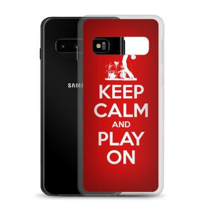 Keep Calm And Play On Guitar Samsung Phone Case