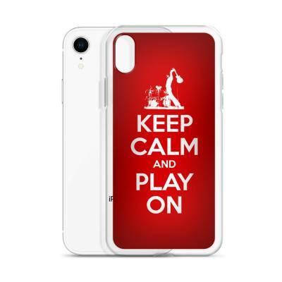 Keep Calm And Play On Guitar iPhone Case