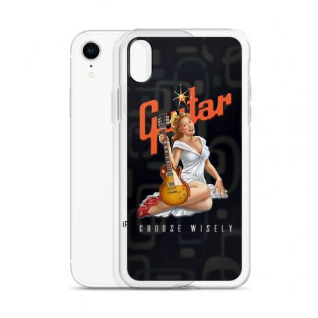 Choose Wisely Retro Guitar Pinup Girl iPhone Case
