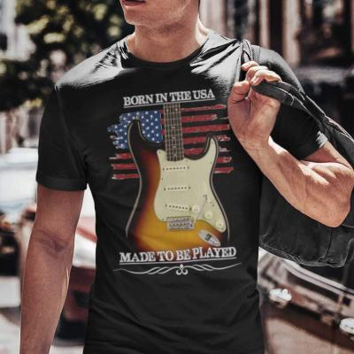 Born In The USA, Made To Be Played Stratocaster Guitar T-shirt