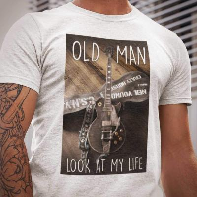 Old Man Look At My Life Guitar T-Shirt