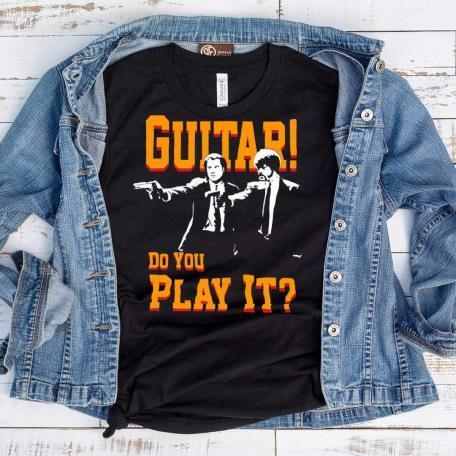 Guitar! Do You Play It! Duo Pulp Fiction T-Shirt