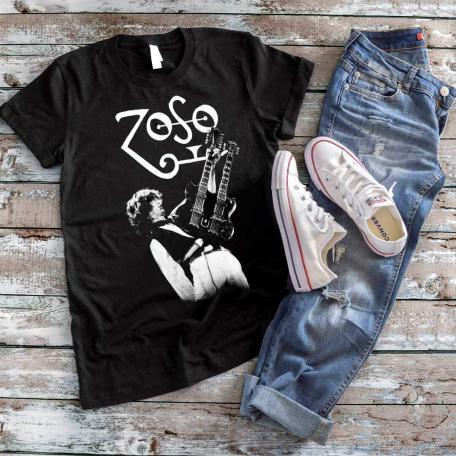 Jimmy Page Zoso Rock Guitar T-shirt