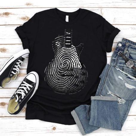 Les Paul Guitar Fingerprint T-shirt