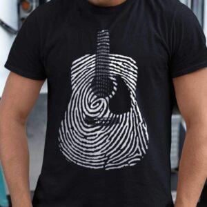 Acoustic Guitar Fingerprint T-shirt