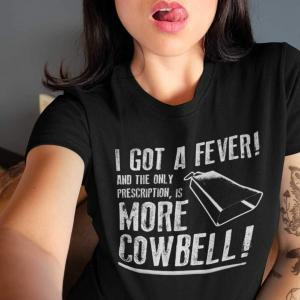 More Cowbell T-shirt - black