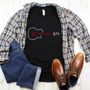 Guitar Heartbeat T-shirt-black