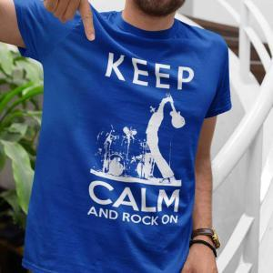 Keep Calm And Rock On Guitar Shirt