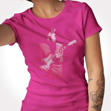 Pink Unicorn Guitar Player Unisex Tee