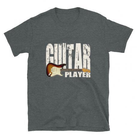 Stratocaster Guitar Player Unisex T-shirt Dark-Heather