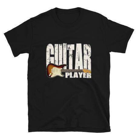 Stratocaster Guitar Player Unisex T-shirt Flat_Black